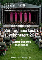 Free Summer Concert of the Vanemuine Symphony Orchestra  2017
