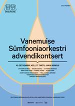 Vanemuise Sümfooniaorkestri advendikontsert 2018